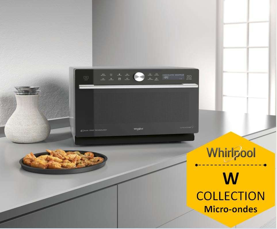 WHIRLPOOL MWP3391SB Pas Cher - Micro ondes Combiné WHIRLPOOL ...