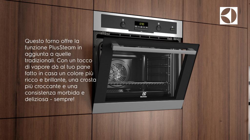 Electrolux Forno Multifuzione PlusSteam | Forni da incasso in ...