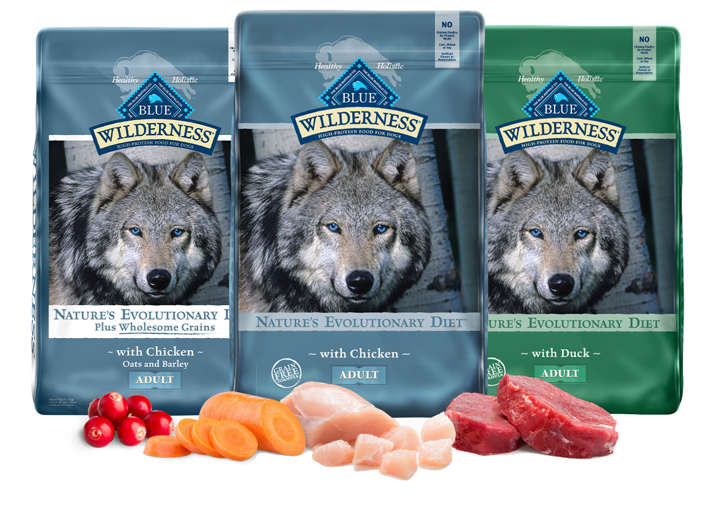 Blue Buffalo Wilderness Adult Dog Food Grain Free Natural Chicken Dog Dry Food Petsmart
