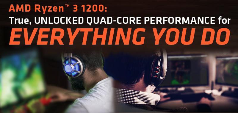 AMD RYZEN 3 1200 4-Core 3 1 GHz (3 4 GHz Turbo) Socket AM4 65W  YD1200BBAEBOX Desktop Processor - Newegg com