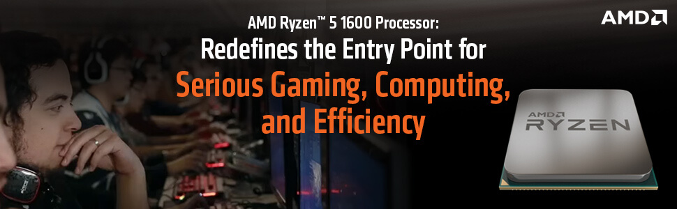 AMD RYZEN 5 1600 Desktop Processor With Wraith Spire Cooling Solution - (6  Core, Up To 3 6 GHz, AM4 Socket, 19MB Cache)