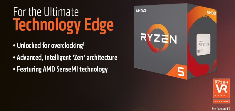AMD Ryzen 5 1600 3 2GHz 6 Core AM4 Boxed - Micro Center