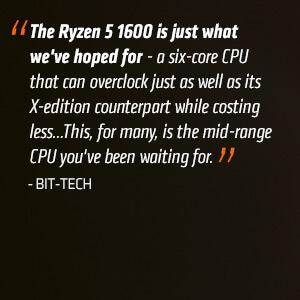 AMD RYZEN 5 1600 6-Core 3 2 GHz (3 6 GHz Turbo) Socket AM4 YD1600BBAEBOX  Desktop Processor - Newegg com