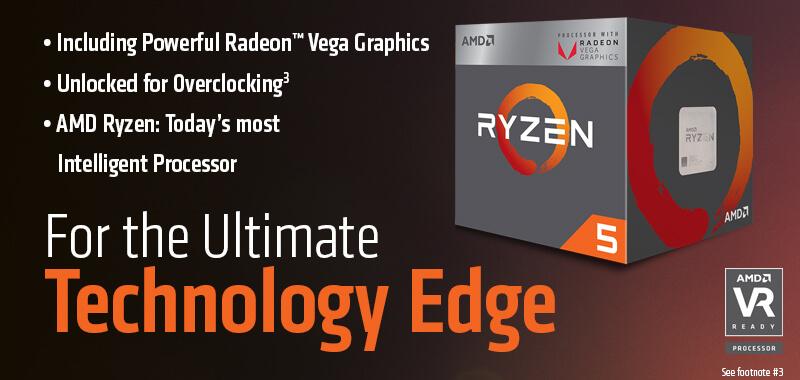 AMD RYZEN 5 2400G Quad-Core 3 6 GHz (3 9 GHz Max Boost) Socket AM4 65W  YD2400C5FBBOX Desktop Processor - Retail - Newegg com