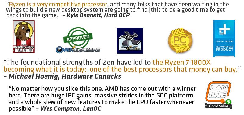 AMD RYZEN 7 1800X 8-Core 3 6 GHz (4 0 GHz Turbo) Socket AM4 95W  YD180XBCAEWOF Desktop Processor - Newegg com