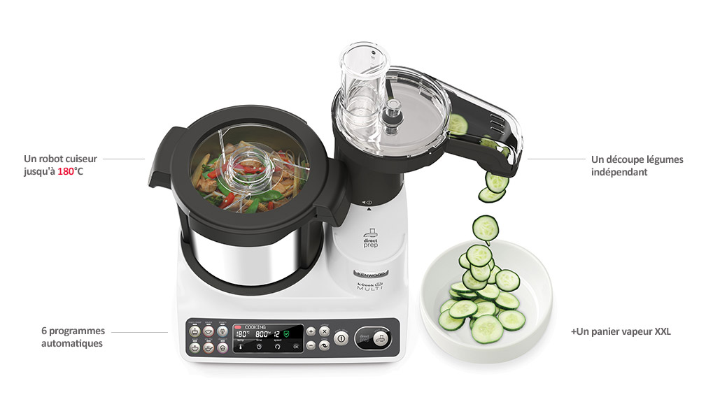 Awesome la marque vous parle with nouveau robot kenwood for Cooking chef vs thermomix