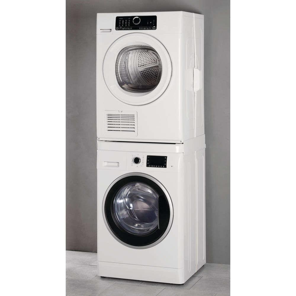 Machine À Laver Et Sèche Linge Intégré kit de superposition wpro pour lave-linge et sèche-linge