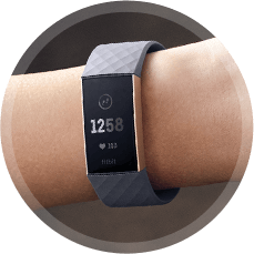 Fitbit 4288355 Charge 3 - Black/Graphite Aluminium at The Good Guys