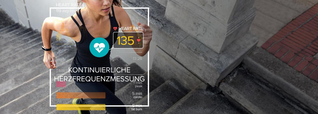 Fitnesstracker Alta HR, schwarzsilber Größe L