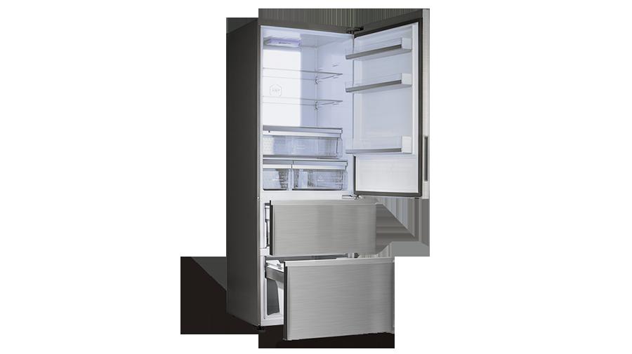 Bosch Kühlschrank Holiday Funktion : Haier a 3 fe 742 cmj kühl gefrier kombination edelstahl a