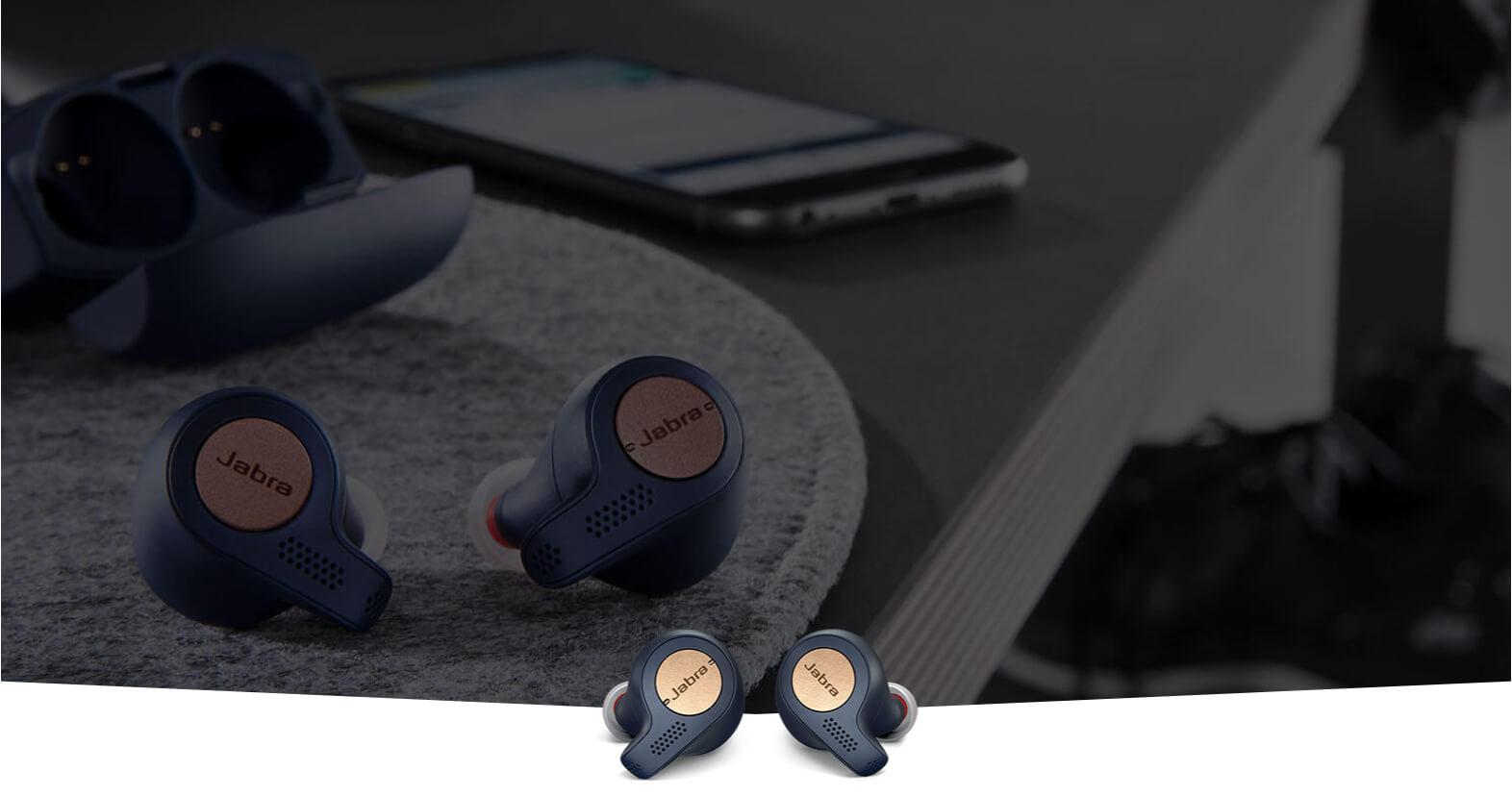 Jabra Elite Active 65T True Wireless Earbuds   Copper Blue